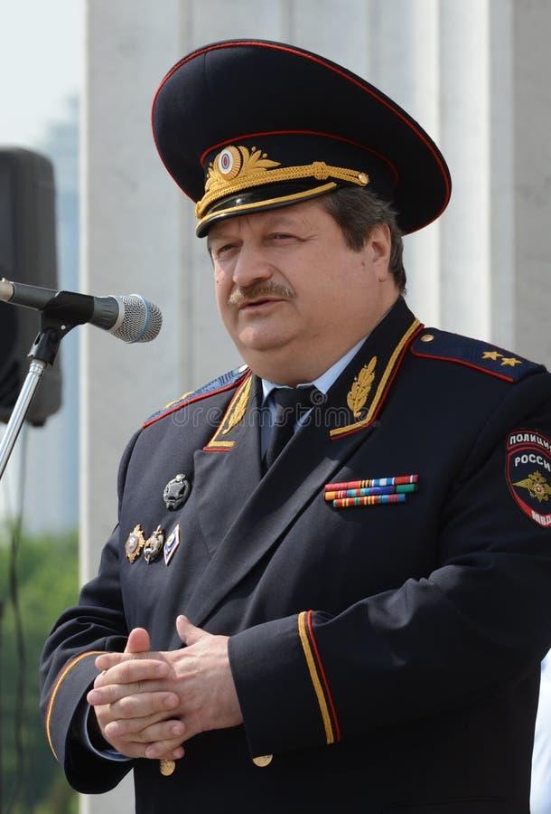 主要董事会的第一副首领俄罗斯联邦L的内务部的公路交通安全的 免版税库存图片