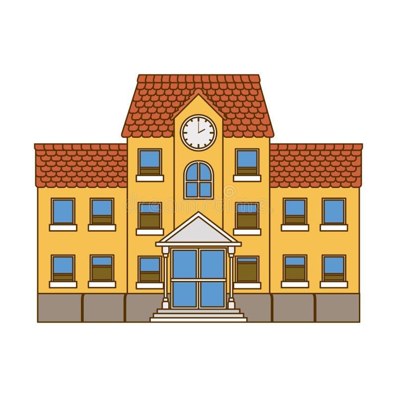 主要被隔绝的象教学楼  库存例证
