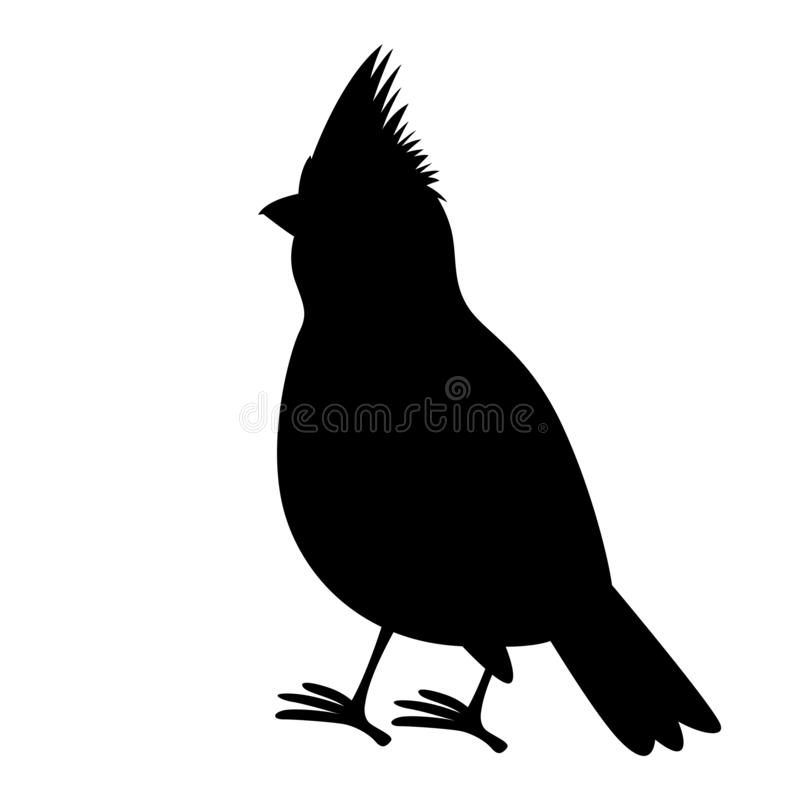 主要鸟传染媒介例证黑色剪影外形 向量例证