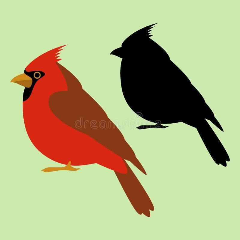 主要鸟传染媒介例证黑色剪影平的样式 皇族释放例证