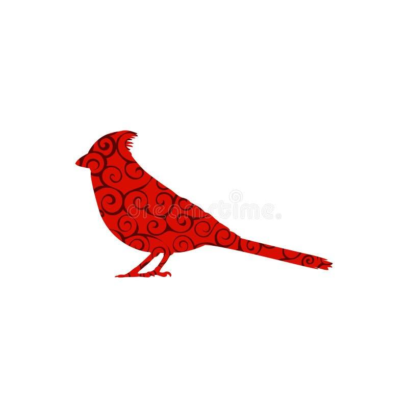主要鸟螺旋样式颜色剪影动物 皇族释放例证