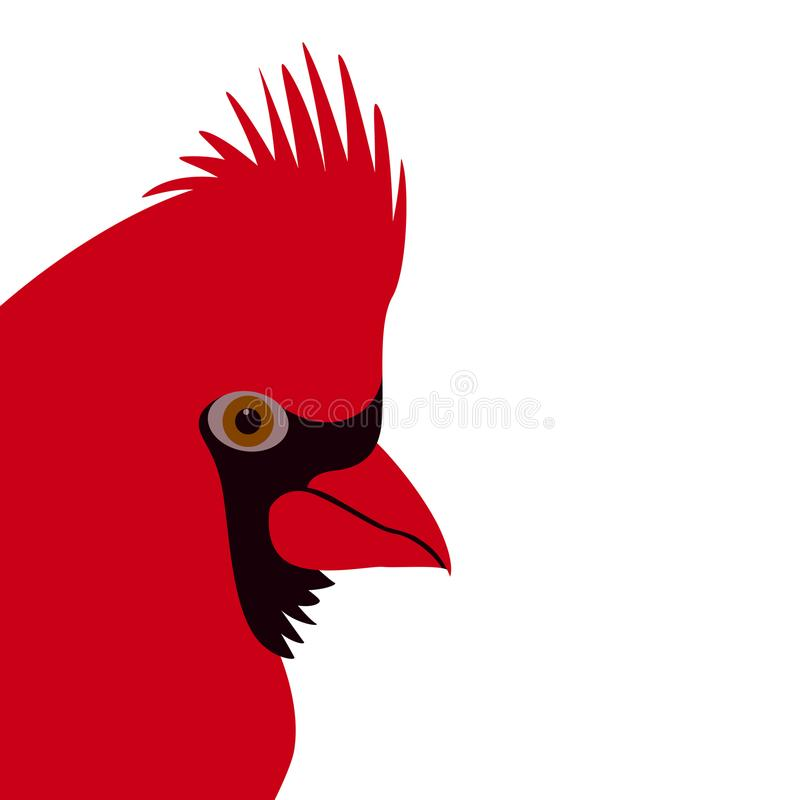 主要鸟面孔传染媒介例证平的样式外形 库存例证