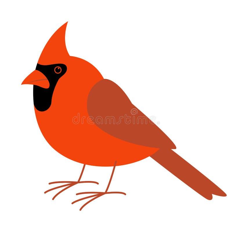 主要鸟,传染媒介例证,平的样式,外形 向量例证