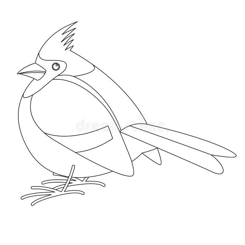 主要鸟,传染媒介例证,排行凹道,外形 向量例证