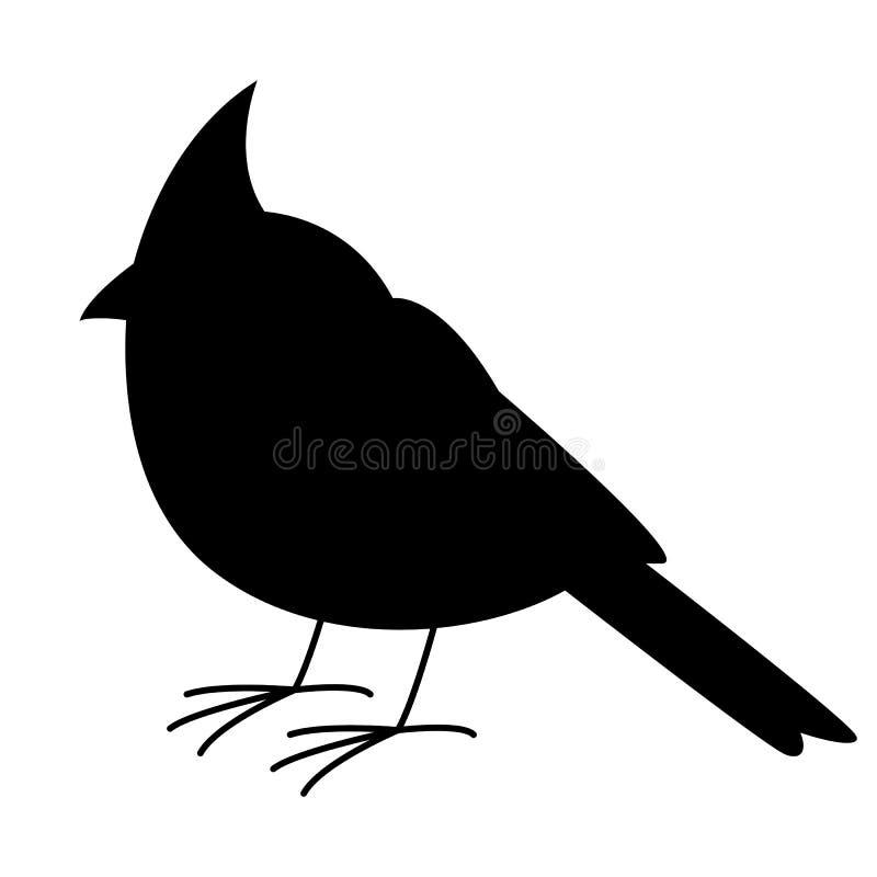 主要鸟,传染媒介例证,黑剪影,外形 库存例证