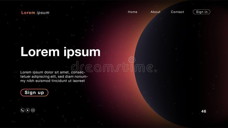主页的背景摘要星系桃红色淡色 库存例证