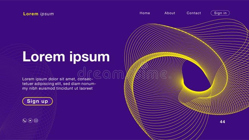 主页的背景摘要紫色黄色颜色 向量例证