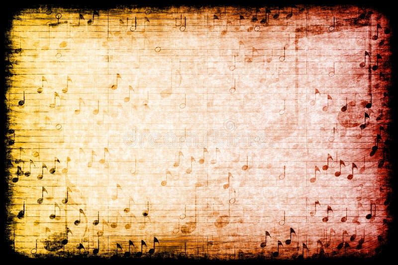 主题抽象背景grunge的音乐 库存例证