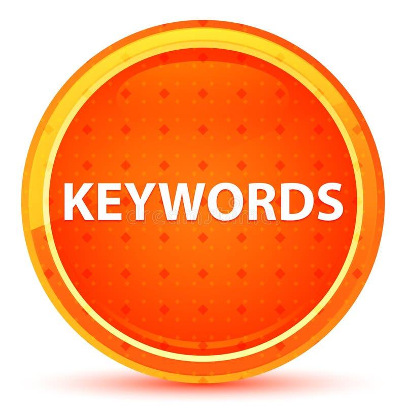 主题词自然橙色圆的按钮 向量例证