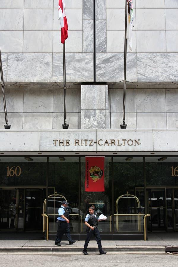 丽思卡尔顿芝加哥 免版税库存图片