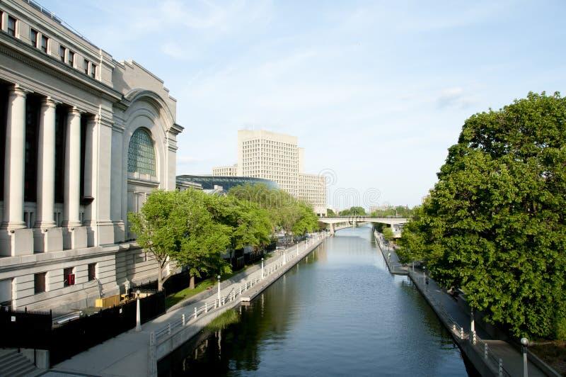 丽都运河-渥太华-加拿大 免版税库存图片