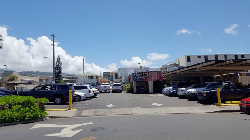 举世闻名的彩虹免下车服务和停车场 免版税库存图片