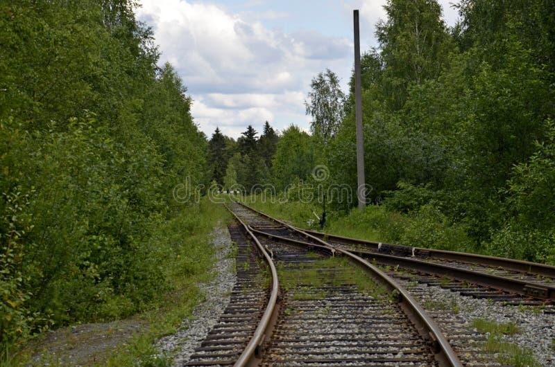 举办对僵局的老铁路 图库摄影
