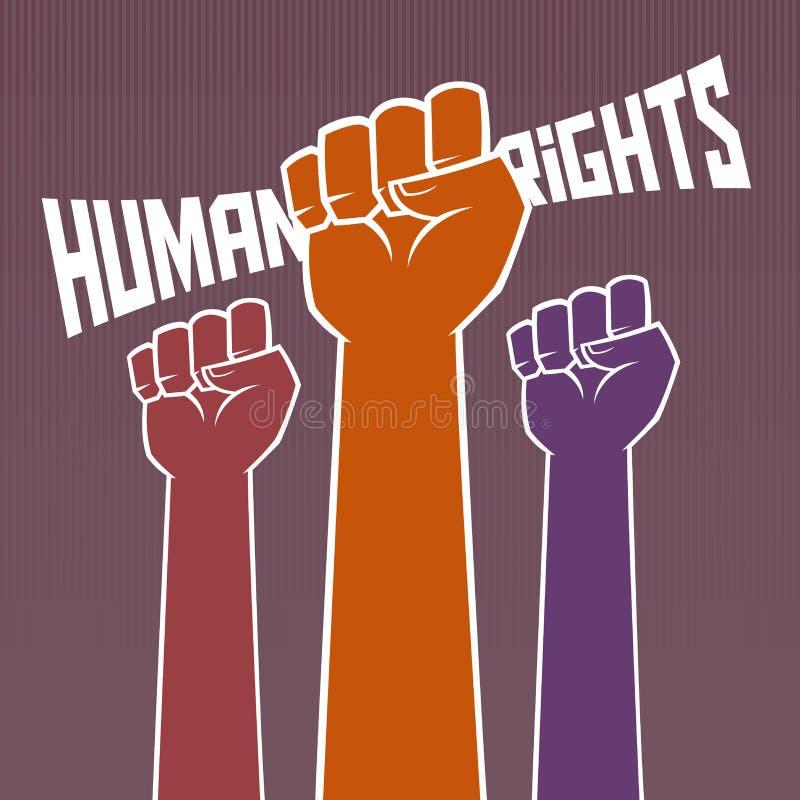 举行为人权的手 库存例证