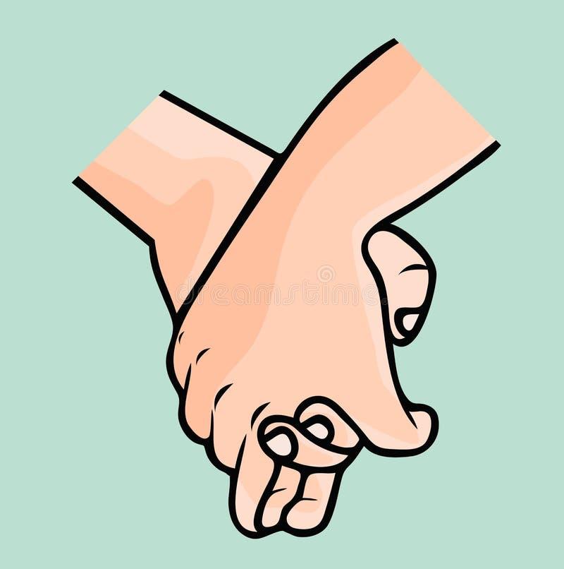 举行手为友谊许诺 库存例证