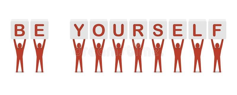 举行词组是你自己的人。 库存例证