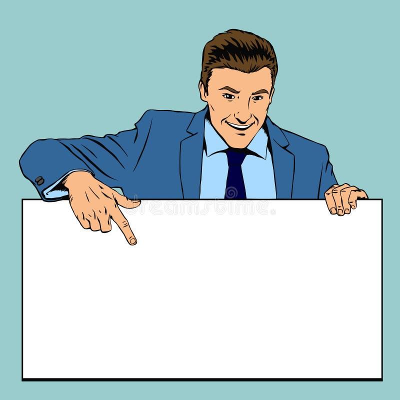举行给的人空的横幅做广告 向量 向量例证