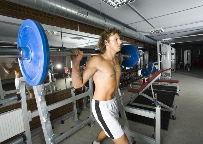 举重运动员年轻人 免版税库存照片