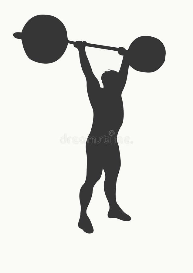 Download 举重运动员 库存例证. 图片 包括有 剪影, 举重运动员, 培养, 响铃, 夹子, 沉默寡言, 例证, 重量 - 300202