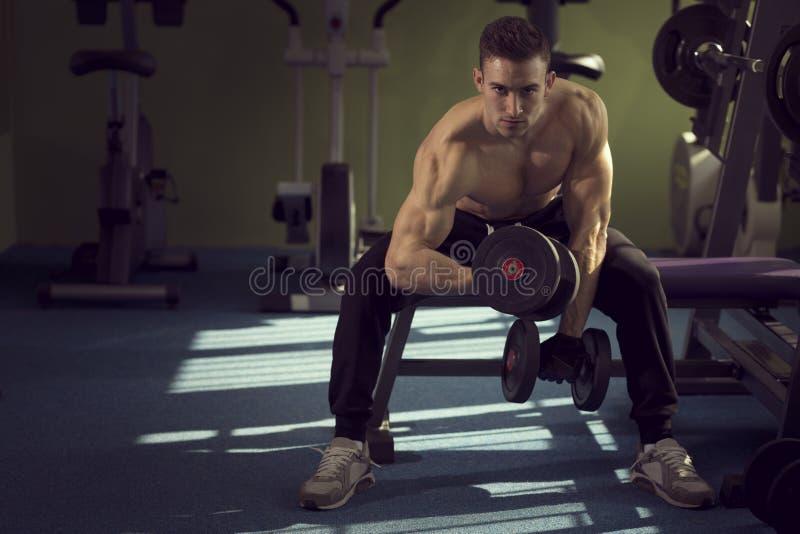 举重运动员 图库摄影