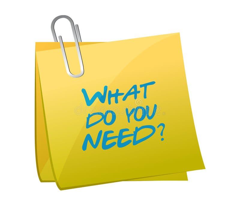 什么做您需要岗位例证 向量例证