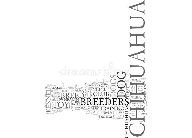 什么您应该知道奇瓦瓦狗Breedersword云彩 库存例证