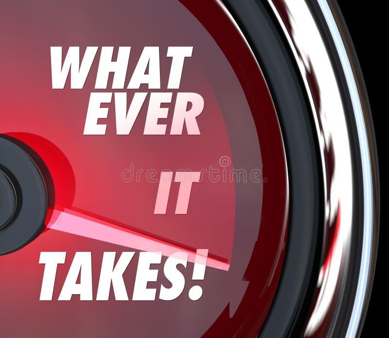 什么这花费车速表达到快速的成功目标 库存例证