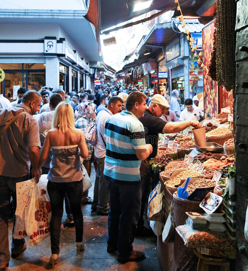 义卖市场全部市场场面街道 库存照片