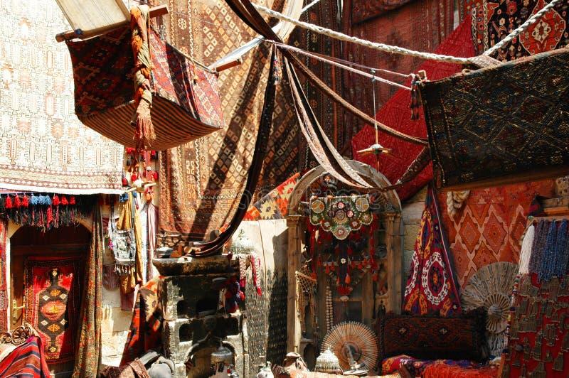 义卖市场地毯存储土耳其 免版税库存图片