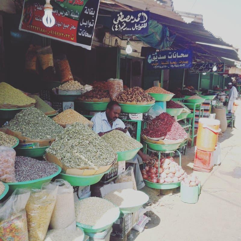 义卖市场/喀土穆 免版税图库摄影