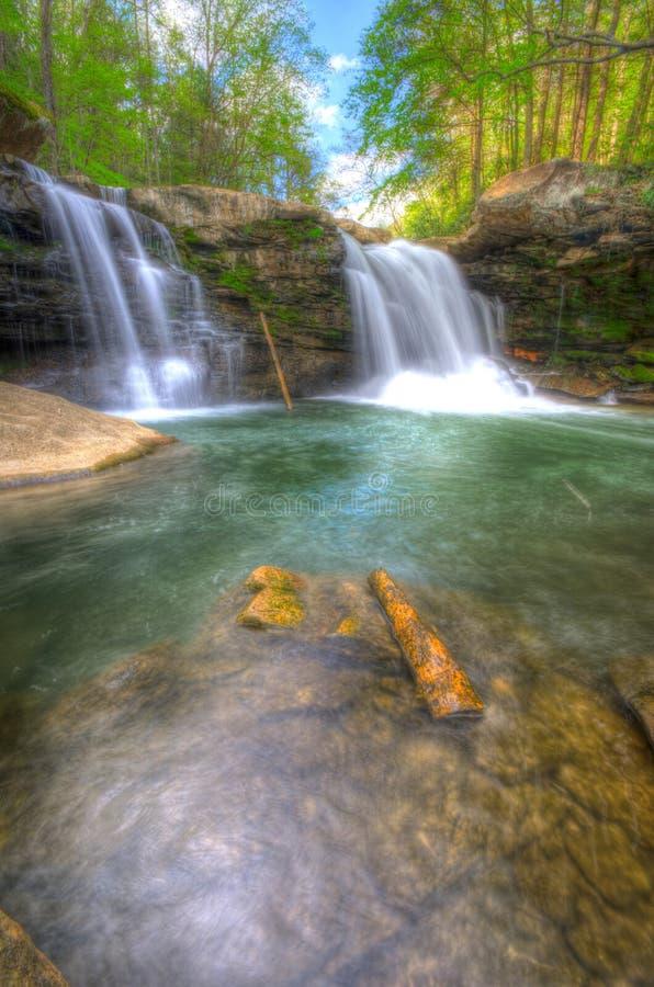 之一许多位于西维吉尼亚的瀑布 库存照片