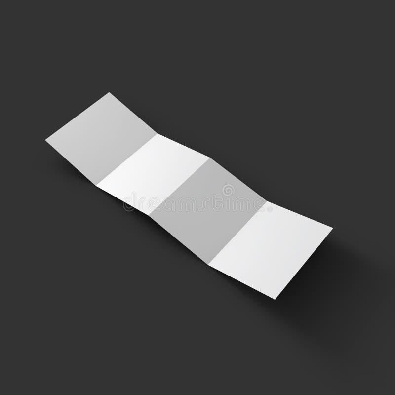 之字形四小册子大模型模板 库存例证