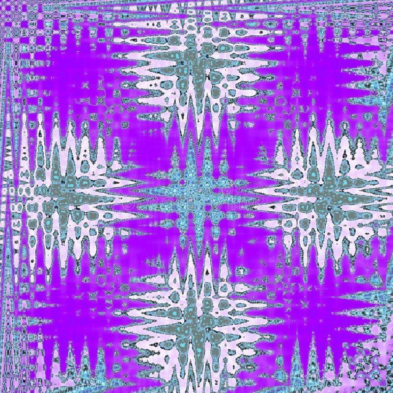 之字形在紫罗兰、蓝色和白色的万花筒样式 向量例证