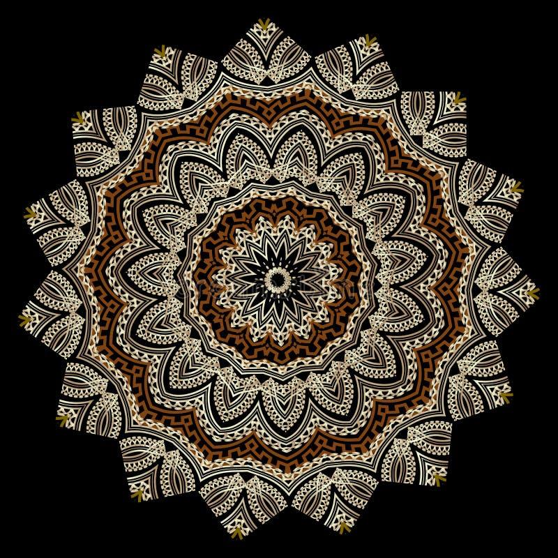 之字形种族样式希腊人传染媒介无缝的样式 部族装饰几何背景 五颜六色的希腊关键河曲 库存例证