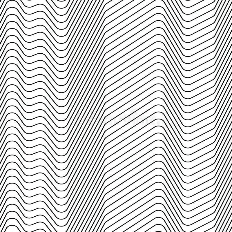之字形线的无缝的小条样式 皇族释放例证