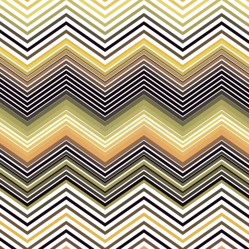 之字形雪佛传染媒介光谱五颜六色的葡萄酒条纹背景纹理样式 皇族释放例证