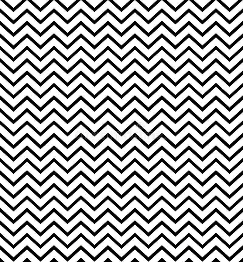 之字形黑白无缝的样式 E 打印布料,标签,横幅,盖子,卡片,网站,网 库存例证