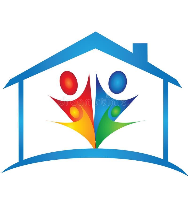 之家和系列徽标 免版税库存照片