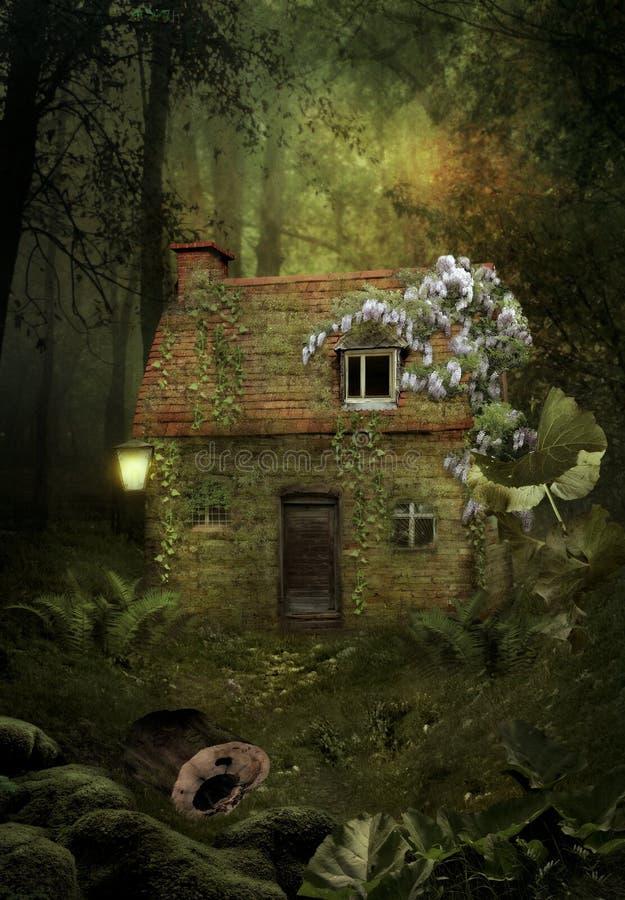 之家在森林里 向量例证