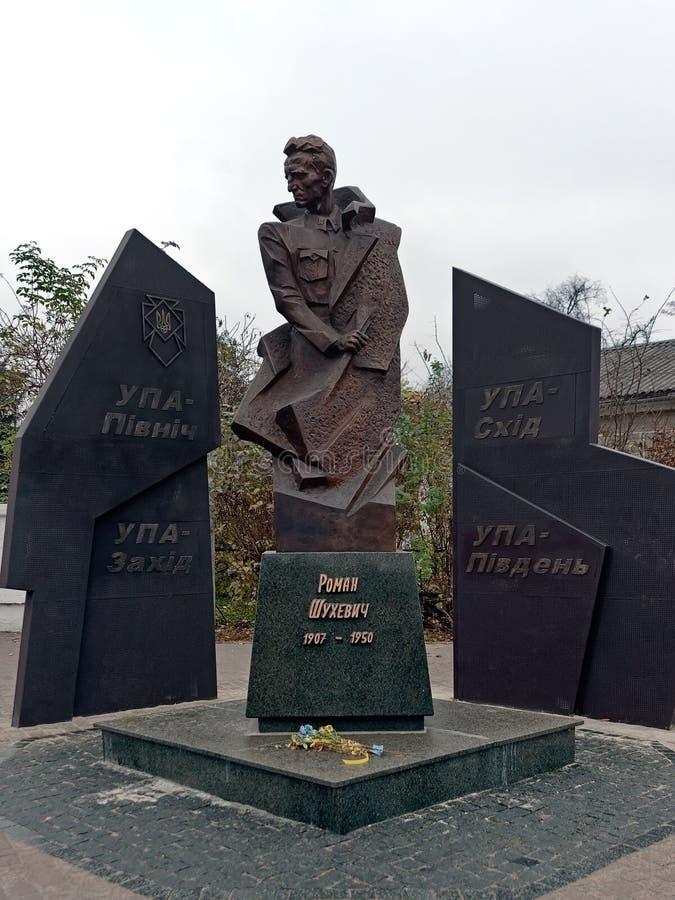 乌克兰伊万诺 — 弗兰科夫斯克的古罗马雕塑 库存照片