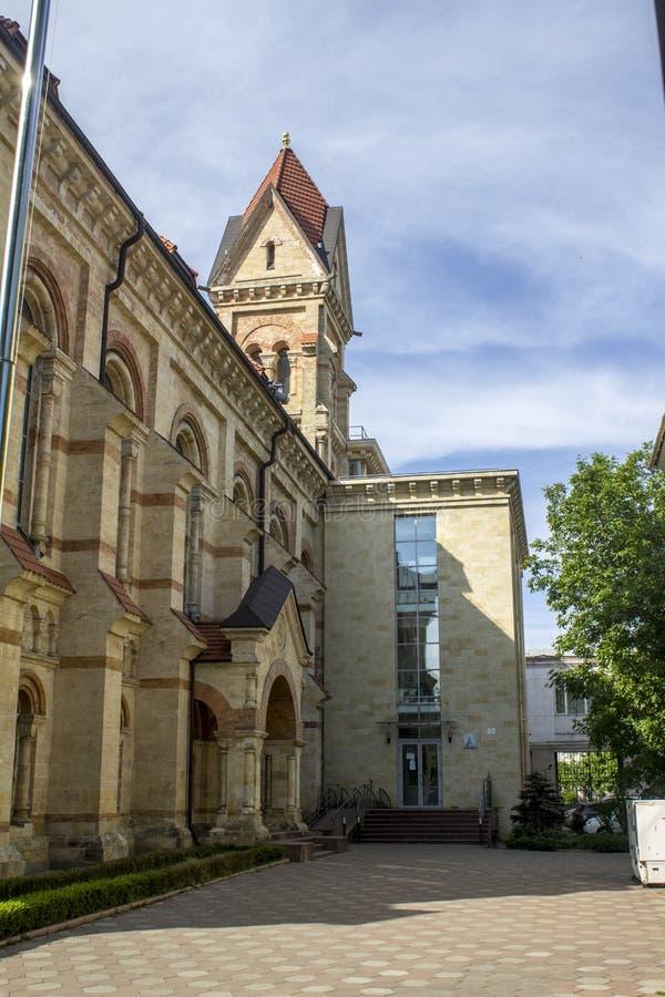 乌克兰傲德萨德国教会 美丽的大厦 免版税库存图片