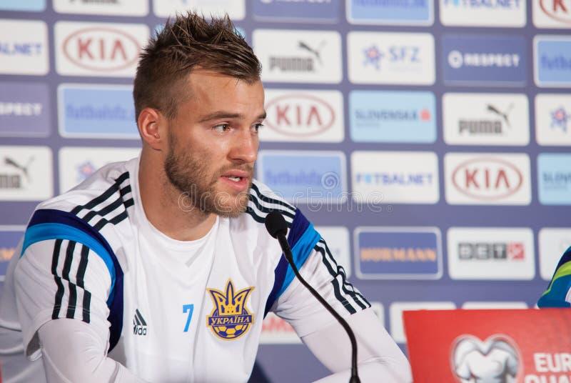 乌克兰全国足球队员球员Andriy Yarmolenko 免版税库存图片
