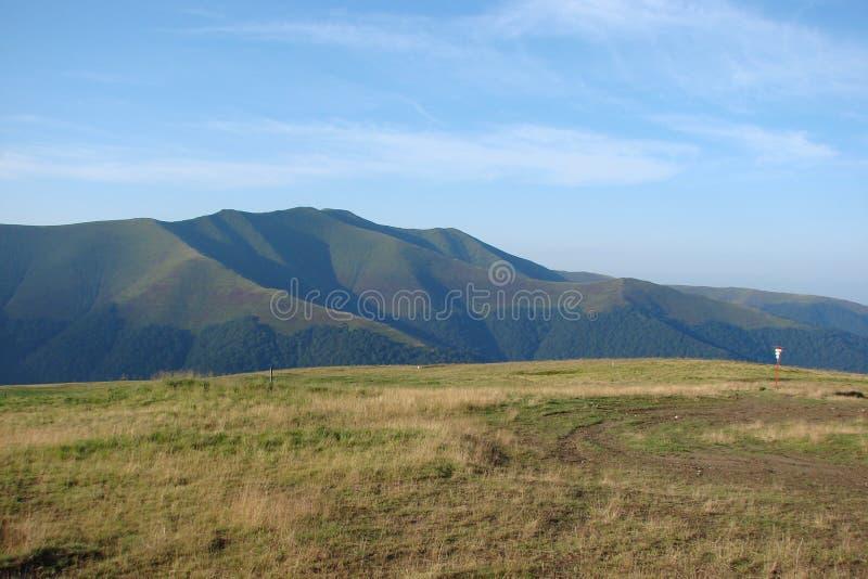 乌克兰喀尔巴汗 Borzhava山脉 免版税图库摄影