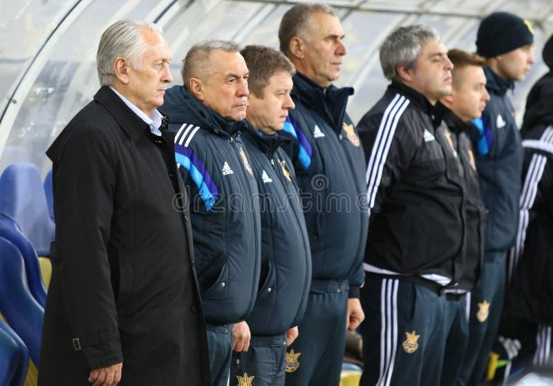 乌克兰国家橄榄球队Mykhailo的Fomenko的主教练 免版税图库摄影
