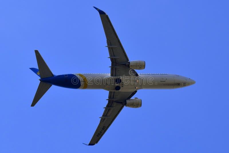 乌克兰国际航空波音737 免版税库存照片