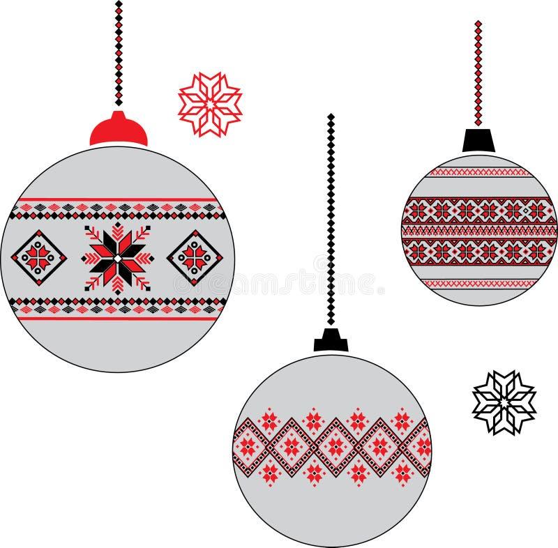 乌克兰圣诞节球 免版税库存照片