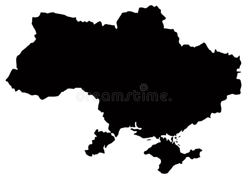 乌克兰地图-主权国家在东欧 皇族释放例证