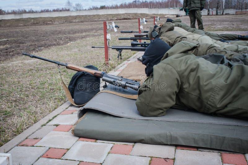 乌克兰培训中心国民警卫队  免版税库存照片