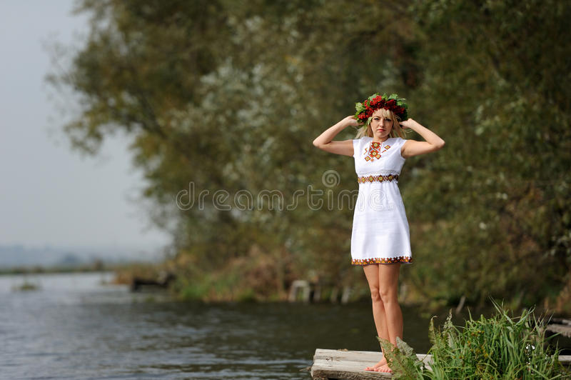 乌克兰妇女 免版税库存图片