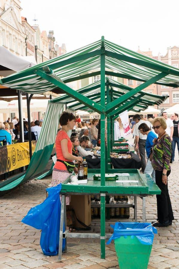 乌克兰市场在波兹南 图库摄影